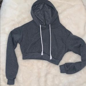 3/$30 Gray Cropped hoodie